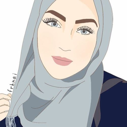 Hijab Girl Drawing - Recherche Google