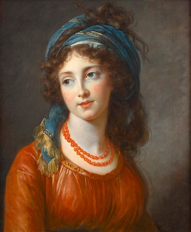 1794 Aglae de Gramont, née de Polignac, duchesse de Guiche by Louise Élisabeth Vigée-Lebrun (private collection) BG