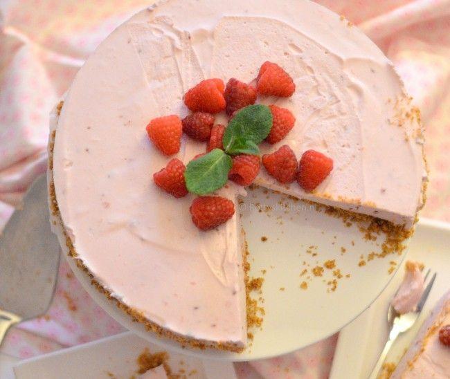 Yoghurt-taart griekse stijl, gemaakt met Optimel yoghurt Griekse stijl #spon