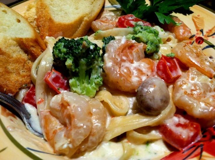 Shrimp Alfredo Fettuccine | Seafoods | Pinterest
