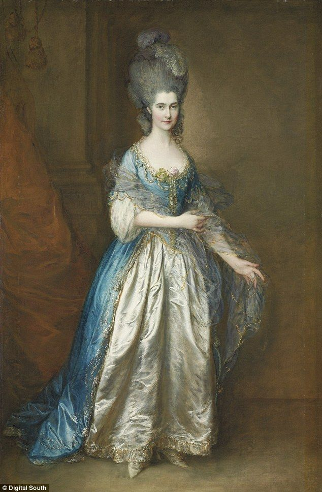 Gainsborough was paid £100 by her adoring grandfather to paint this portrait and mentioned the sittings, which took place in September 1777 in a letter to his sister. Description from madameguillotine.org.uk. I searched for this on bing.com/images