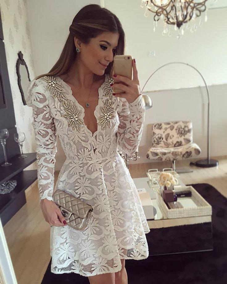 Thássia Naves - vestido branco                                                                                                                                                                                 Mais
