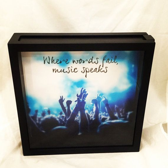 12x12 Concert Ticket Shadow Box Ticket Stub by ReminisceInStyle
