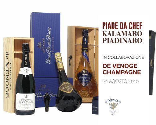 Piade da Chef in collaborazione con Champagne de Venoge  #piadedachef #kalamaropiadinaro #champagnedevenoge