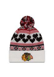 New Era Chicago Blackhawks White Winter Cutie Knit Hat