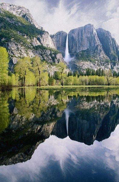Yosemite Falls, California  #Waterfalls #BeautifulNature #NaturePhotography #Nature #Photography #Travel #California #Reflections