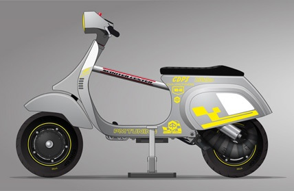 Vespa Germy Challenge Scootentole