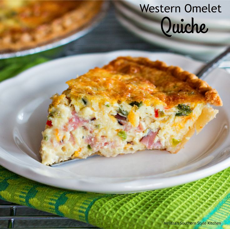 Western Omelet Quiche - http://www.melissassouthernstylekitchen.com/western-omelet-quiche/