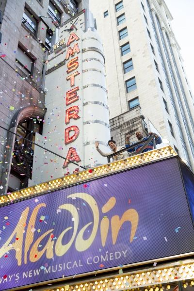 Photo Flash: Happy New Year! ALADDIN Cast Preps for 2015 in Times Square