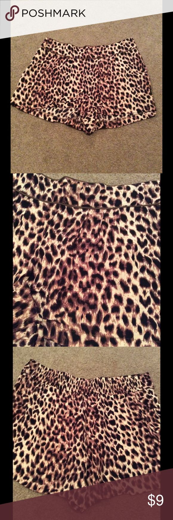 Cheetah Shorts Chic and stylish. Flowy material! Elastic back waistband. Forever 21 Shorts