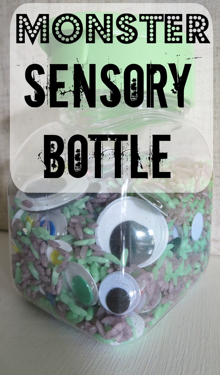 Simple Baby Play: Monster Sensory Bottle #October #Halloween