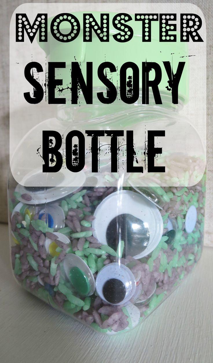 Simple Baby Play: Monster Sensory Bottle #October #Halloween