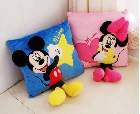 Christmas gift plush mouse pillow plush toy a pair /lot car pillow, cushion freeshipping