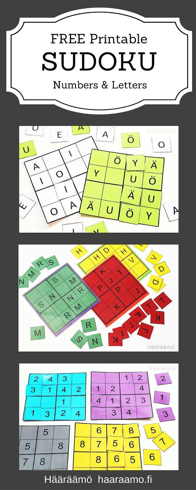 Hääräämö: Kirjain- ja numerosudoku pdf