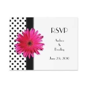 $1.70 RSVP Cards with Gerber Daisy! You can slide inside announcement