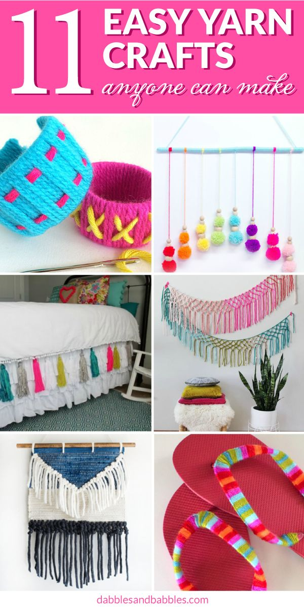 25 Unique Easy Yarn Crafts Ideas On Pinterest Pom Pom