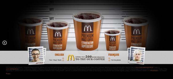 McDonalds website designed by Fusion Studios Inc.