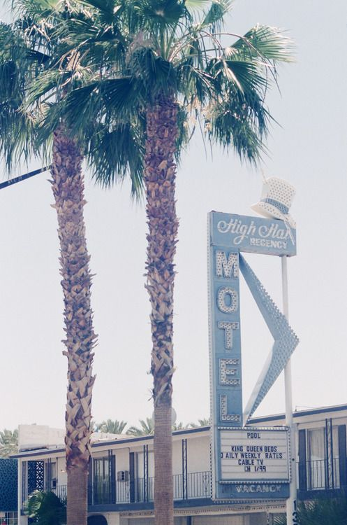 High Hat Motel, Las Vegas, Nevada.  A still from 'Made in USA', a documentary project created in collaborationwithAmerican Apparel.