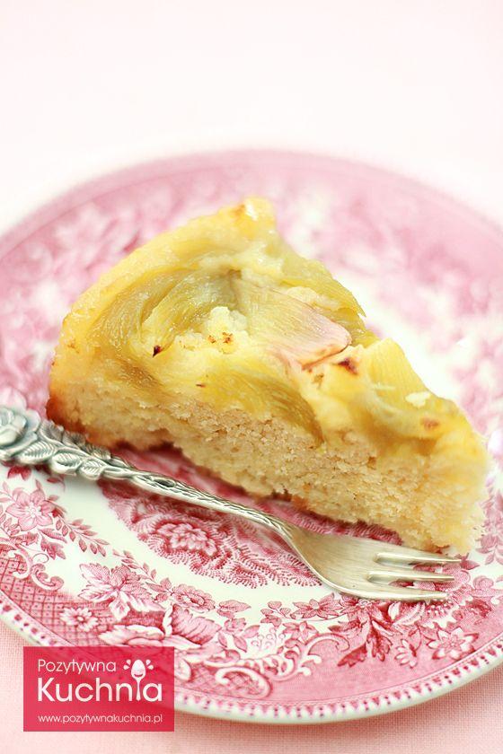 #przepis na #ciasto odwracane z rabarbarem - jak zrobić ciasto z rabarbarem odwracane - krok po kroku  http://pozytywnakuchnia.pl/odwracane-ciasto-z-rabarbarem/  #kuchnia #rabarbar #wypieki