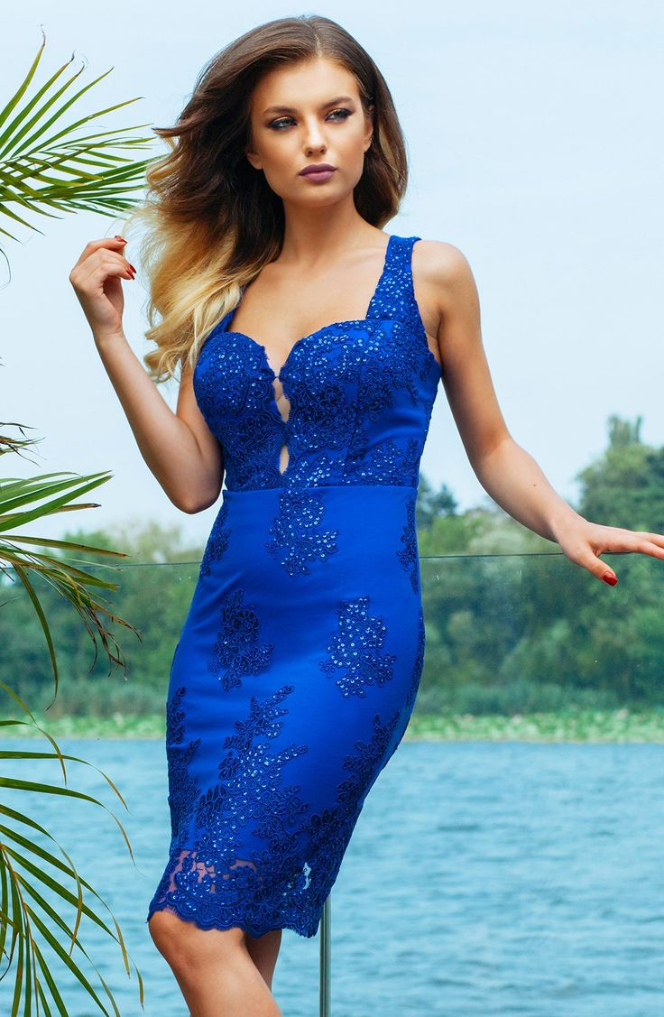 Midi cocktail lace dress in royal blue shades: https://missgrey.org/en/dresses/midi-cocktail-dress-made-from-blue-lace-juliana/575?utm_campaign=octombrie&utm_medium=rochie_juliana_albastra&utm_source=pinterest_produs