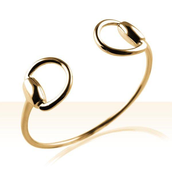 Bracelet Plaqué Or JONC MORS | BIJOUX EQUESTRES | EQUITATION | CHEVAL | MADILAR