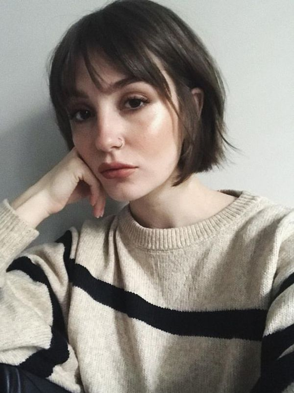 5 Simple Charming Short Hairstyles With Fringe They Love In 2020 Short Hair Fringe Short Hair Styles Fringe Hairstyles