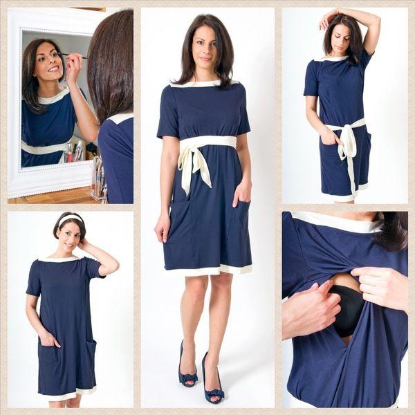 Stillkleid+Umstandskleid+dunkelblau+von+Mania+Stillmode+auf+DaWanda.com