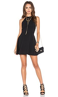 Black dress with short boots