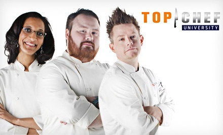 """Top Chef University – Online Deal  $49 for 12-Month Membership to Online Cooking Classes Led by """"Top Chef"""" Contestants .      Creating a meal from scratch is both challenging and delicious, much like playing """"Stairway to Heaven"""" on a clarinet made out of a candy cane.   Members get 12 months to work through more than 200 video lessons led by Top Chef contestants"""