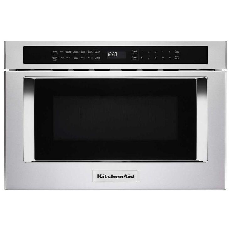 Kitchenaid 12cuft undercounter microwave oven drawer