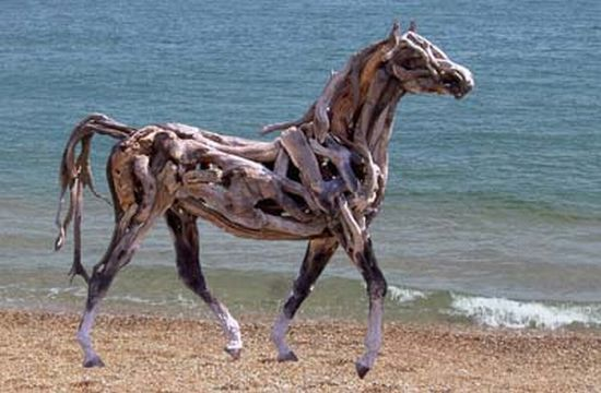 Horse Horse Horse Horse: Heather Jansch, Driftwood Art, Driftwoodart, Horse Sculpture, Beach, Driftwood Horses, Drift Wood, Driftwood Sculpture, Animal