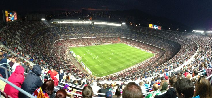 Camp Nou in Barcelona, Cataluña