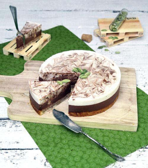 Vegan Chocolate, Coconut & Cardamom Tart