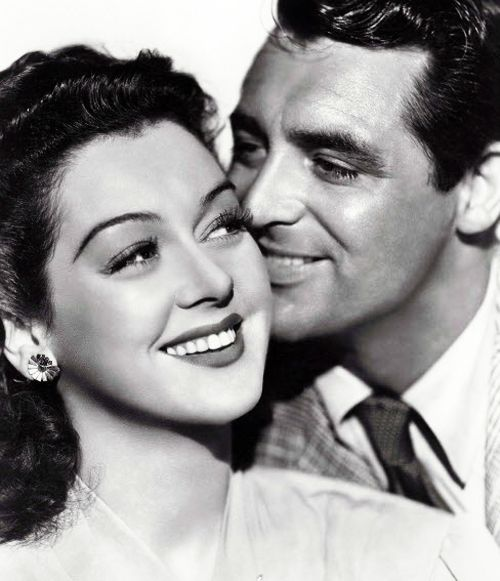 """Rosalind Russell and Cary Grant, 1940, in """"His Girl Friday""""."""