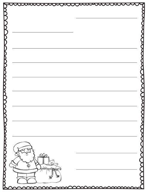 blank christmas letter template