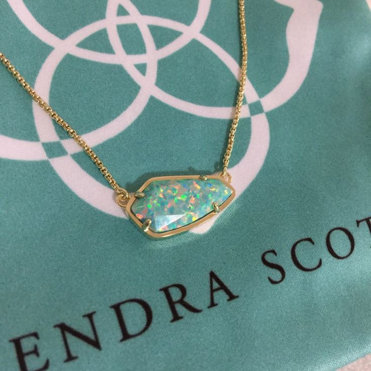 Kendra Scott Gold Cami Necklace In Aqua Kyocera Opal. Check it out: http://www.vinted.com/accessories/necklaces/21960753-kendra-scott-gold-cami-necklace-in-aqua-kyocera-opal.
