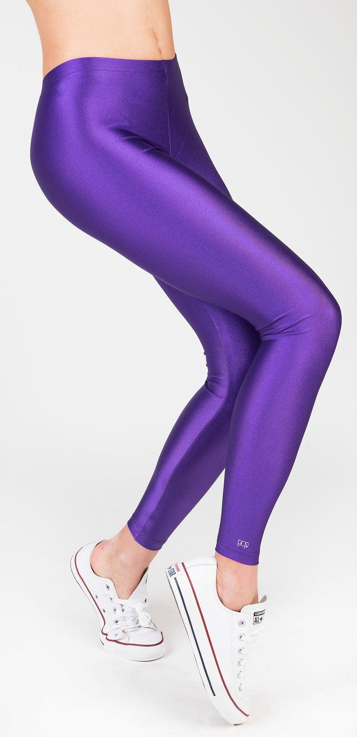 PCP Jaqueline - purple shiny leggings