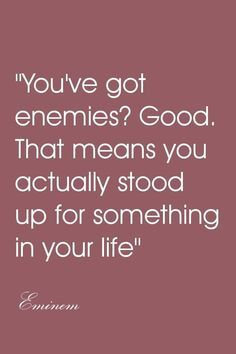 Don't usually quote Eminem...but I like this one.