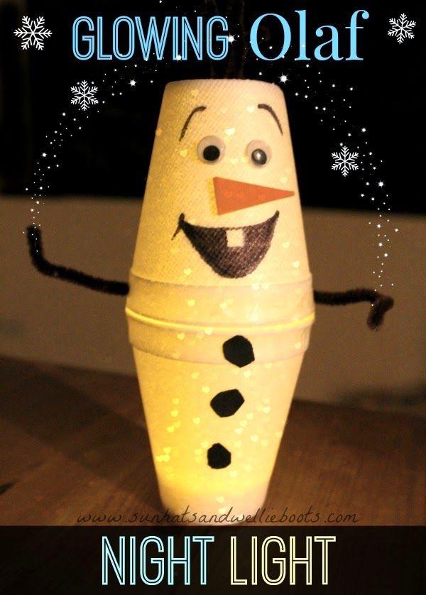 Sun Hats & Wellie Boots: DIY Olaf Night Light