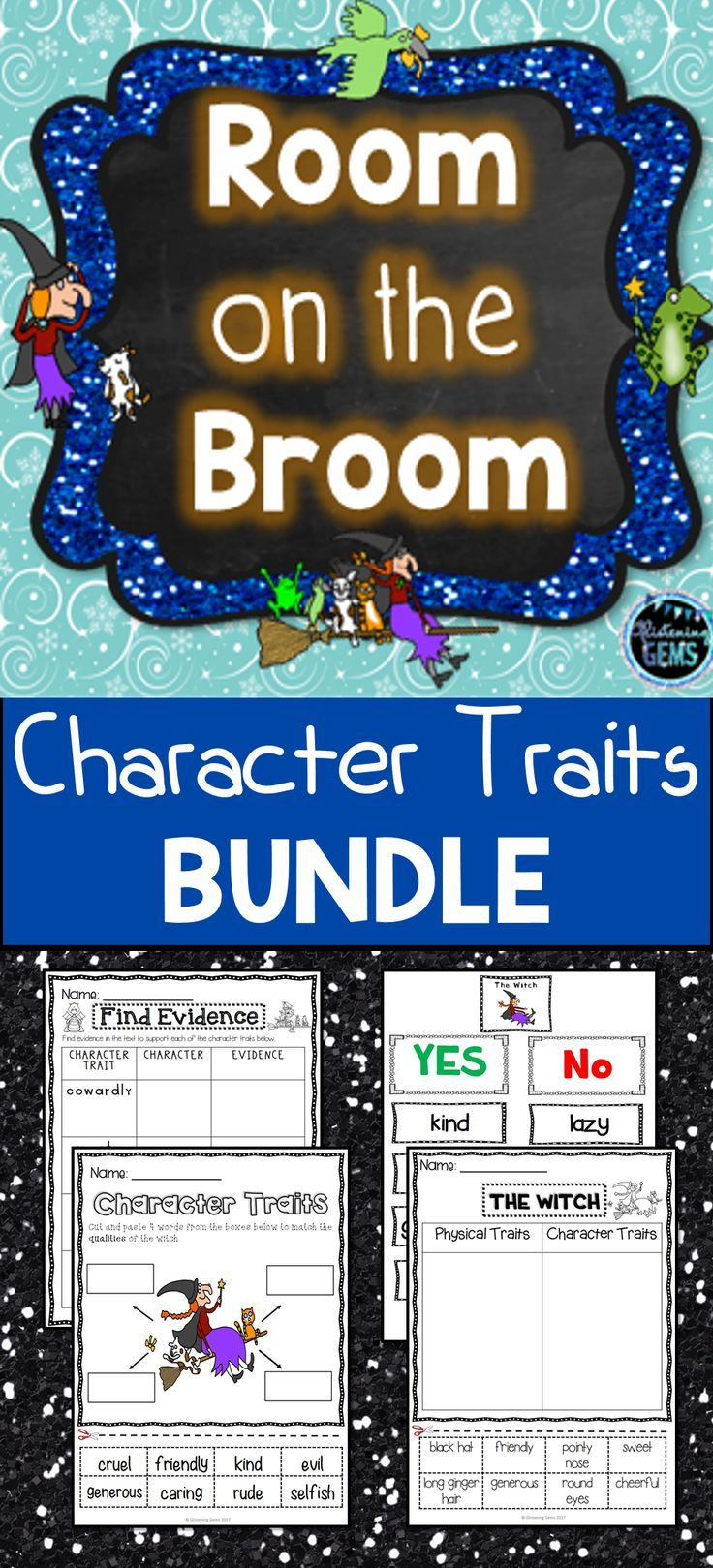 Room On The Broom Character Traits Bundle No Prep Character Trait Activities Sorts Character Trai Room On The Broom Character Trait Relief Teaching Ideas [ 1619 x 736 Pixel ]