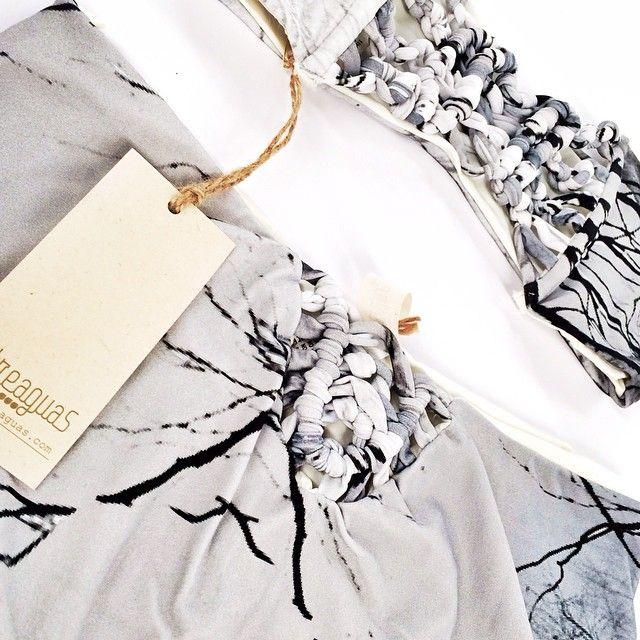 | Cloudy Forest Strapless & Boyshorts Bikini |  #Entreaguas #LimitedEdition #Detail #Knit #Macrame #Craftsmanship