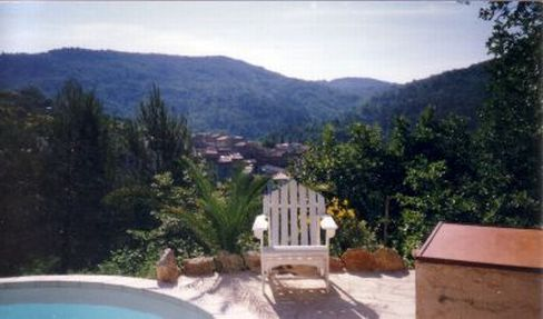 Spacious villa with private pool. Wildlife is even present from eagles soaring above the forest, to lizards and the occasional wildboar. Name and address of nearest wine producer: Chateau de la Garde Figanieres. #holiday #Provence #coted'azur #France #property #villa #pool #vineyards #winetasting #wine #products #countryside