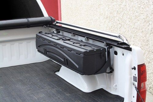 "The best technical support and full toolbox installation instructions. Lowest price F-150 toolbox guarantee and expert service. Ford F-150, 2015 toolbox by Du-Ha are available from etrailer.com. For expert service call 800-298-8924 to order your Du-Ha Humpstor Truck Bed Storage Box and Gun Case - Side Mount - 55"" x 9-3/4"" x 9"" part number DU70200, or order online at etrailer.com."