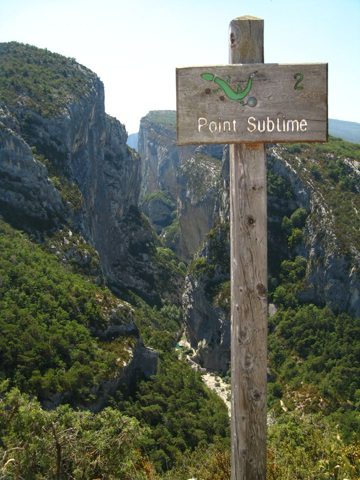 Point Sublime gorge du verdon