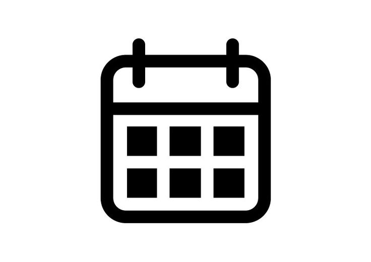 Calendar Outline Free Vector Icon