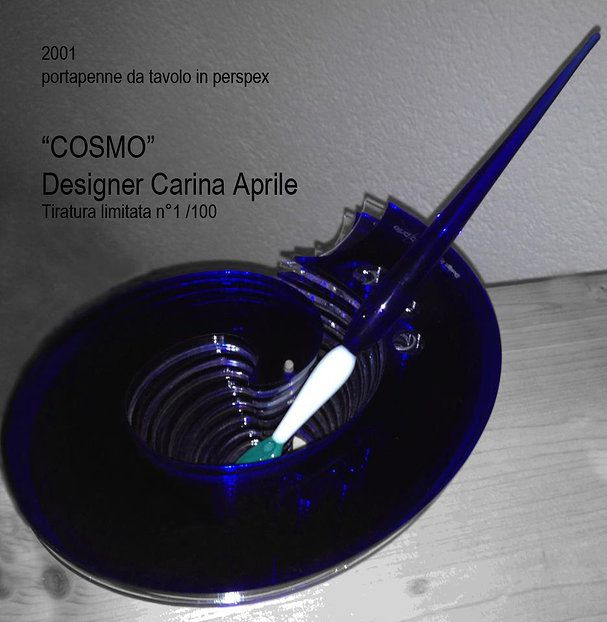 "Carina Aprile, design ""COSMO"" Portapenne in perspex   Tiratura n.1/100"