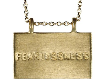 10K Gold Joyful Heart Foundation Fearlessness Pendant