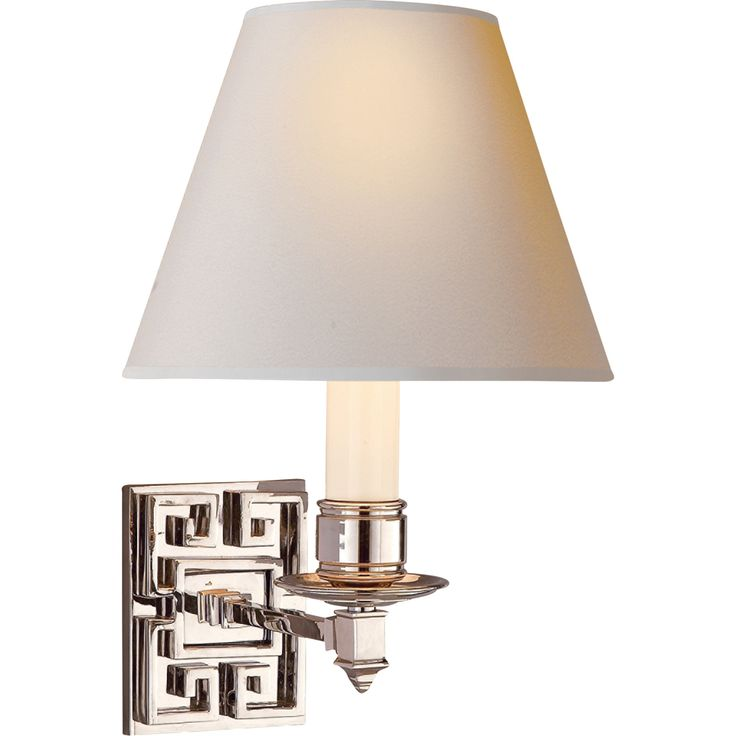 Abbot sconce in polished nickel Reg. $365.00 CLEARANCE $182.00. While supplies last.