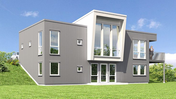 Hus Bauxitt - Moderne. Ferdighus fra HIBA HUS - HIBA HUS