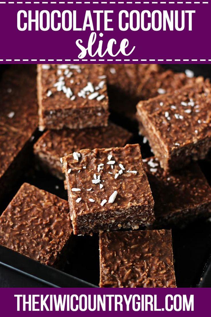 Chocolate Coconut Slice Aka Chocolate Fish Slice Recipe Chocolate Coconut Slice Coconut Slice Chocolate Recipes